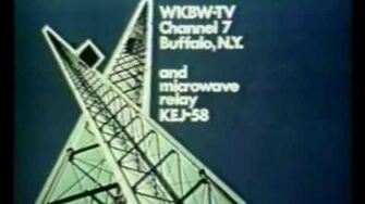 WKBW-TV 7 Buffalo, NY Sign on 1980s