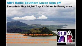 DWCX FM 91.9 Air1 radio Southern Luzon Sign off (May 2017).