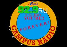 92.9 Campus Radio RU Logo 1995