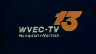 WVEC-TV Channel 13, Hampton Norfolk, VA Sign-off from Spring 1987-0