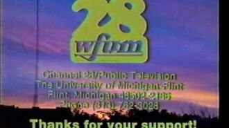 WFUM-TV 28 (Flint, MI) Sign-Off and Sign-On from Summer 1989