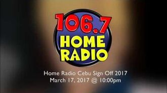 106.7 Home Radio Cebu sign off - 2017