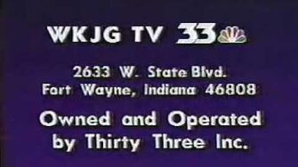 WKJG-TV 33 Sign-Off 1989-0