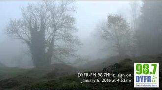 DYFR-FM sign on