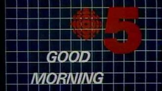 CBLT 5 Sign on Sunday Morning 1987