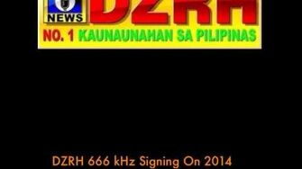 DZRH 666 kHz Signing On 2014-0