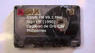 DXVM FM Sign Off Cagayan de Oro (1990)