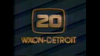 """WXON TV 20 Detroit 1986 End of Evening Sign off w """"My Country Tis of Thee (America)"""""""