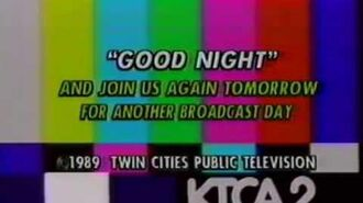 KTCA Channel 2 PBS - Early 1989 Sign-Off and Credit Roll After Blake's 7