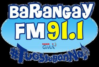 Barangay FM 91.1 Lucena Logo 2018