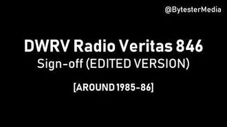DWRV Radio Veritas Sign off -1985-1986- Edited Version