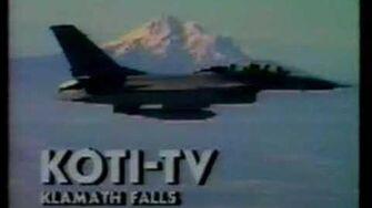 KOTI-TV Channel 2, Klamath Falls OR - Sign-off recorded circa 1989