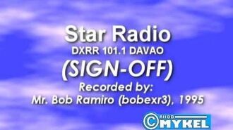 DXRR-FM Star Radio (now MOR) Signing Off (1995)