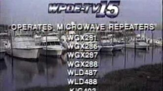 WPDE-TV Channel 15, Florence, SC Sign-off and Sign-On from March 1993