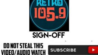 (DWLA-FM) RETRO 105.9 DCG-FM Sign-Off in 2017 (still used)