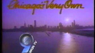 WGN 1986 Station Sign On & National Anthem