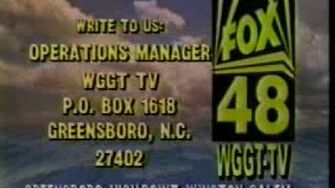 WGGT-TV 48 (now WMYV) Greensboro, NC Sign-Off from Spring 1993