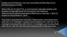 VTM on YT closedown notice (January 2017)