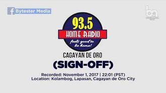 93.5 Home Radio Cagayan de Oro (Sign-off) -2017-