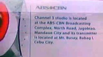 ABS-CBN TV3 Cebu Sign Off 2010