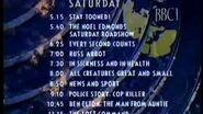 BBC1 Closedown 26th October 1990