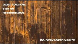 DZEC 1026 KHz (Radyo Agila v1) sign-on (2006)