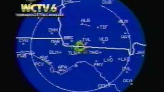 WCTV (CBS) Thomasville Tallahassee Sign-Off 1991