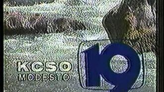 KCSO channel 19 Modesto sign-off from 1986