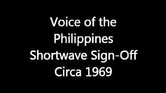 Voice Of The Philippines Shortwave Sign Off Circa 1969