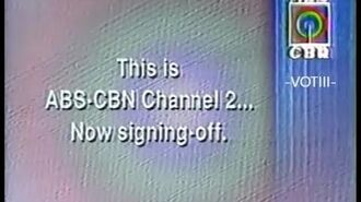 ABS-CBN Station ID and Sign Off (1992)