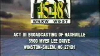 WNRW-TV 45 (now WXLV) and WGGT-TV 48 (now WMYV) Sign-Off from New Year's Day 1995