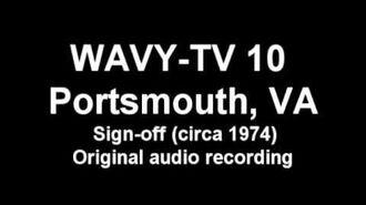 WAVY-TV 10 Sign-off (ca