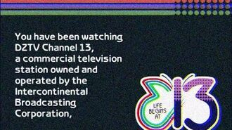 DZTV-13 (IBC) Manila's Sign Off in 1988