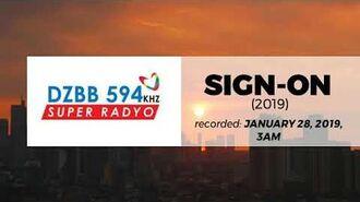 Super Radyo DZBB 594 New Sign On -28-JAN-2019-