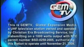 GEM TV 49 - Sign on and Sign off
