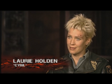 Laurie Holden giving an interview