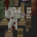 Silent Hill PS1 texture - Puppet Nurse green - SILENT 0757