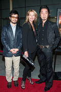 Mary Elizabeth McGlynn, Akira Yamaoka and Hideyuki Shin at the premiere of Silent Hill - Revelation
