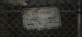 Notice plate