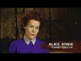 Alice Krige giving an interview