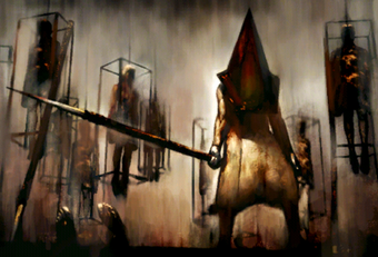 silent hill 2 pyramid head fight hard