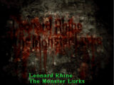 """Leonard Rhine, """"The Monster Lurks"""""""