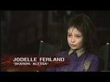 Jodelle Ferland (as Dark Alessa) giving an interview