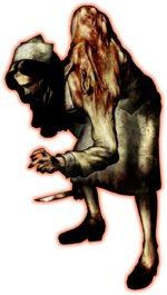 Silent Hill - Puppet Nurse enemy artwork