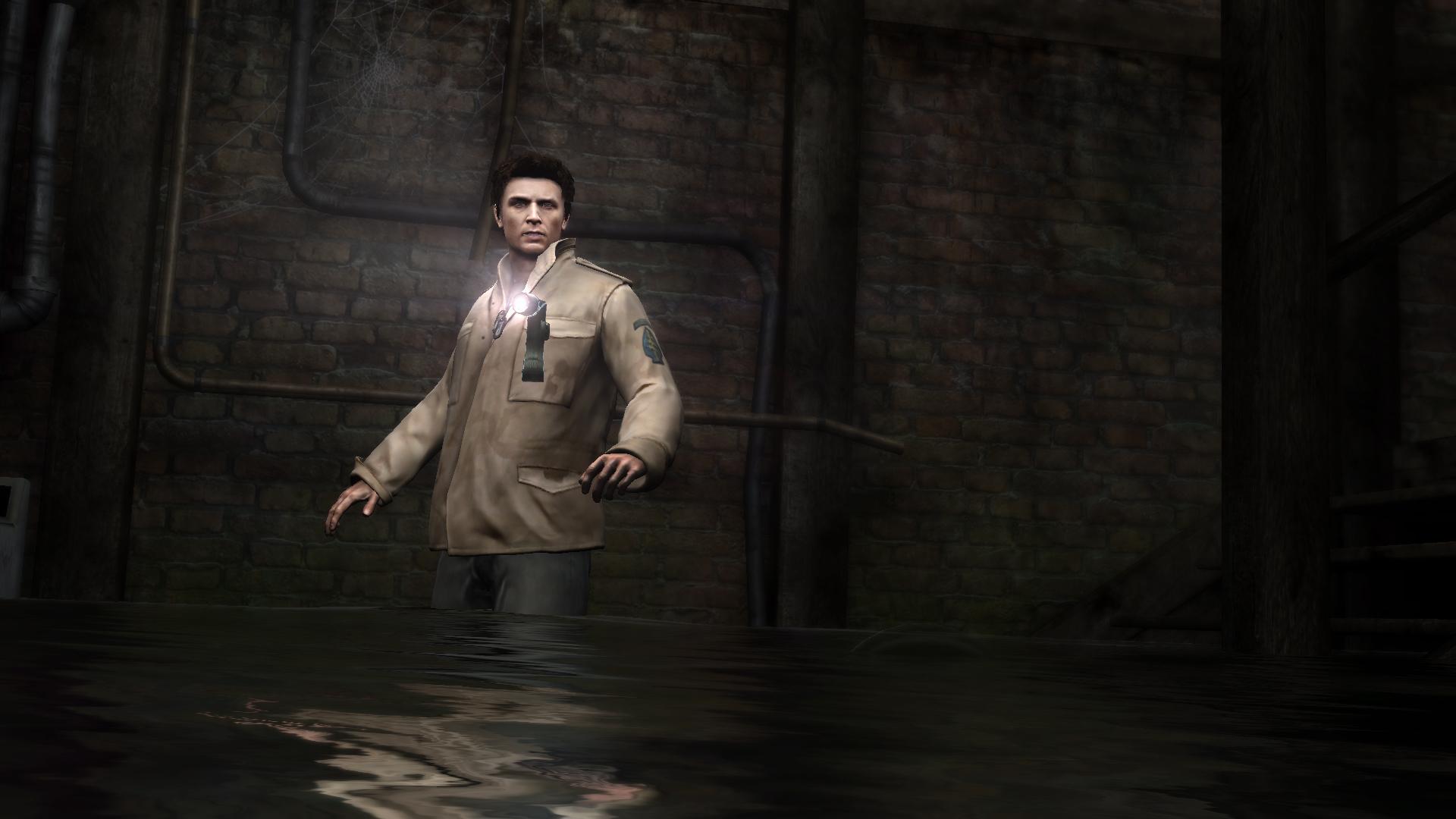 Alex Hesitates As He Disturbs A Submerged Lurker.