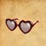 Sh bom heart sunglasses