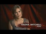 Radha Mitchell giving an interview
