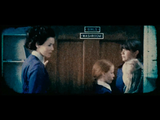 Headmistress Christabella is ushering other children from the washroom