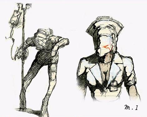 Imagen  SH2 Nurse Conceptjpg  Silent Hill Wiki en espaol
