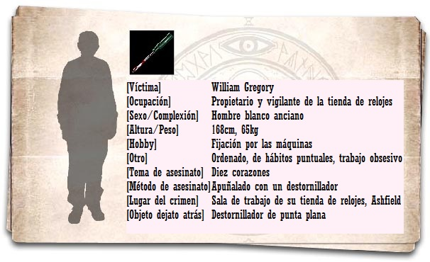 Ficha William Gregory